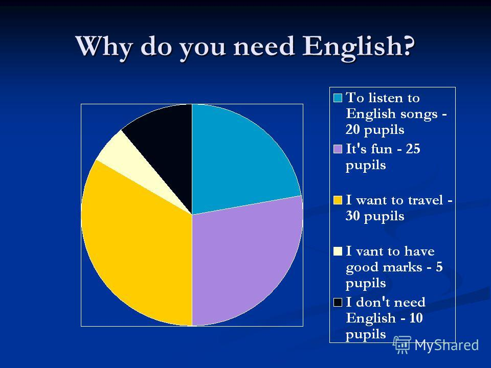 Why do you need English?