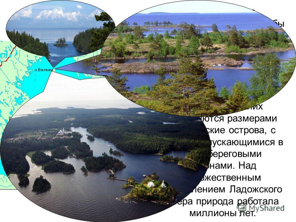 Ладожское озеро - это самое крупное озеро Европы. Площадь Ладожского озера составляет 18400 кв. км. Озеро слегка вытянуто в меридиональном направлении. Максимальная длина составляет около 200 км, ширина - 130 км. Наибольшая глубина - 260 м.
