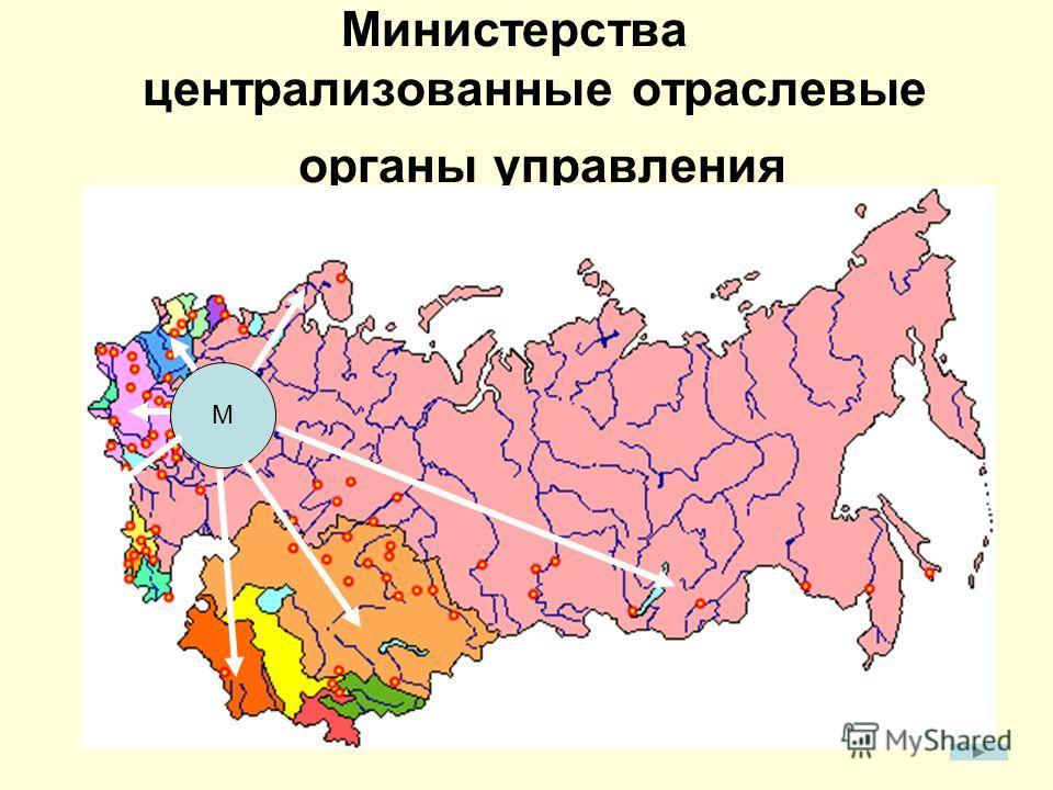 Министерства централизованные отраслевые органы управления М