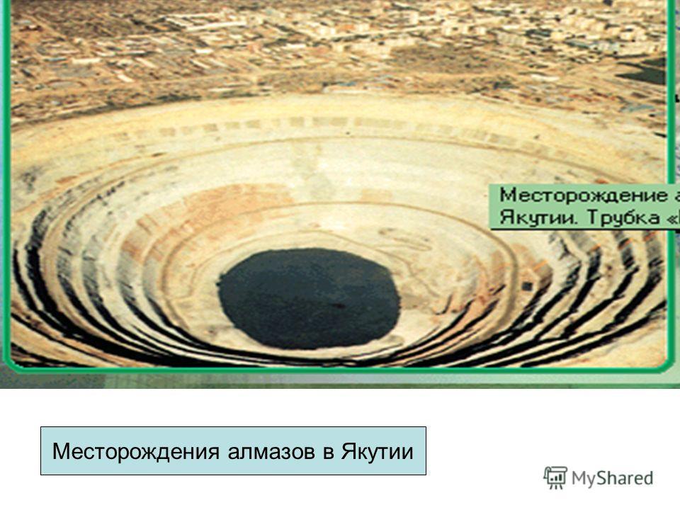 М Месторождения алмазов в Якутии