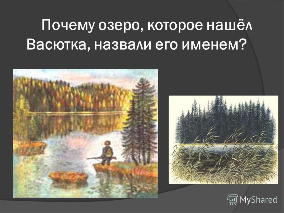 Почему озеро, которое нашёл Васютка, назвали его именем?