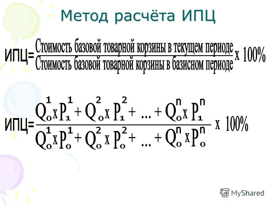Метод расчёта ИПЦ