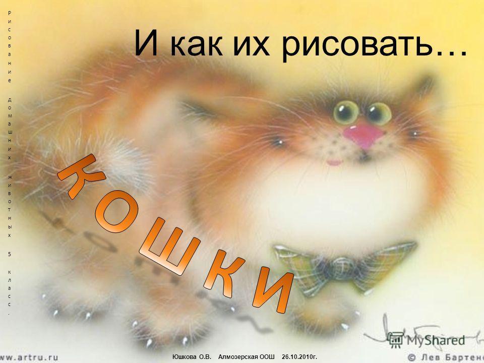 И как их рисовать… Юшкова О.В. Алмозерская ООШ 26.10.2010г.