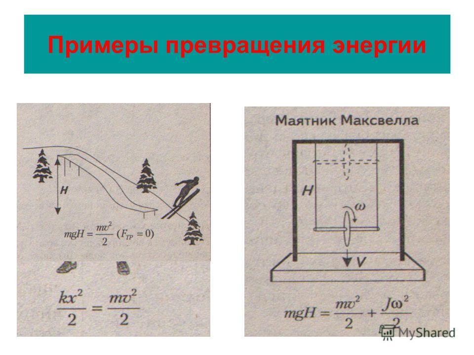 Примеры превращения энергии