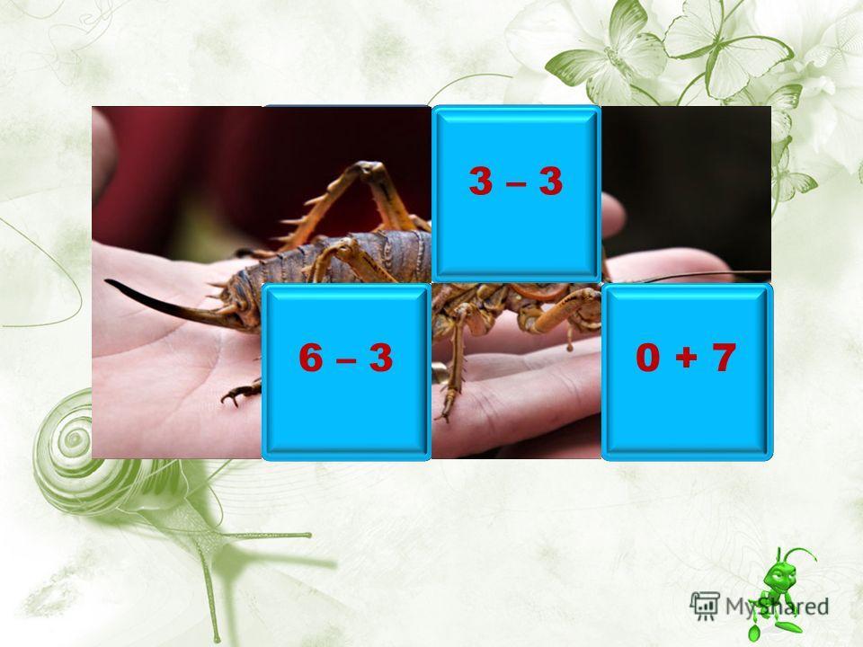 10 – 4 6 – 3 3 – 3 0 + 7