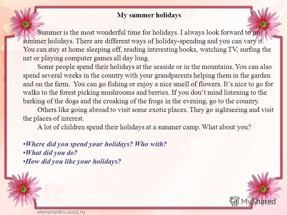 an enjoyable holiday essay Essay 14 talking about winter holiday as final is coming, winter holiday is coming too i strongly believe that all students and teaching staff are looking for it because it is a break for we all.