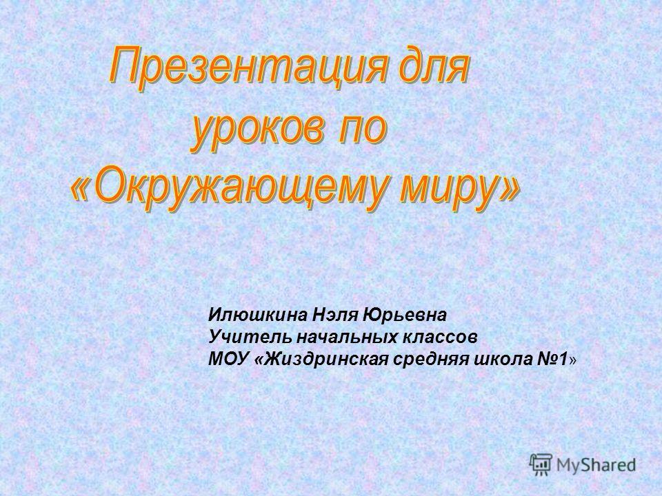 Илюшкина Нэля Юрьевна Учитель начальных классов МОУ «Жиздринская средняя школа 1 »