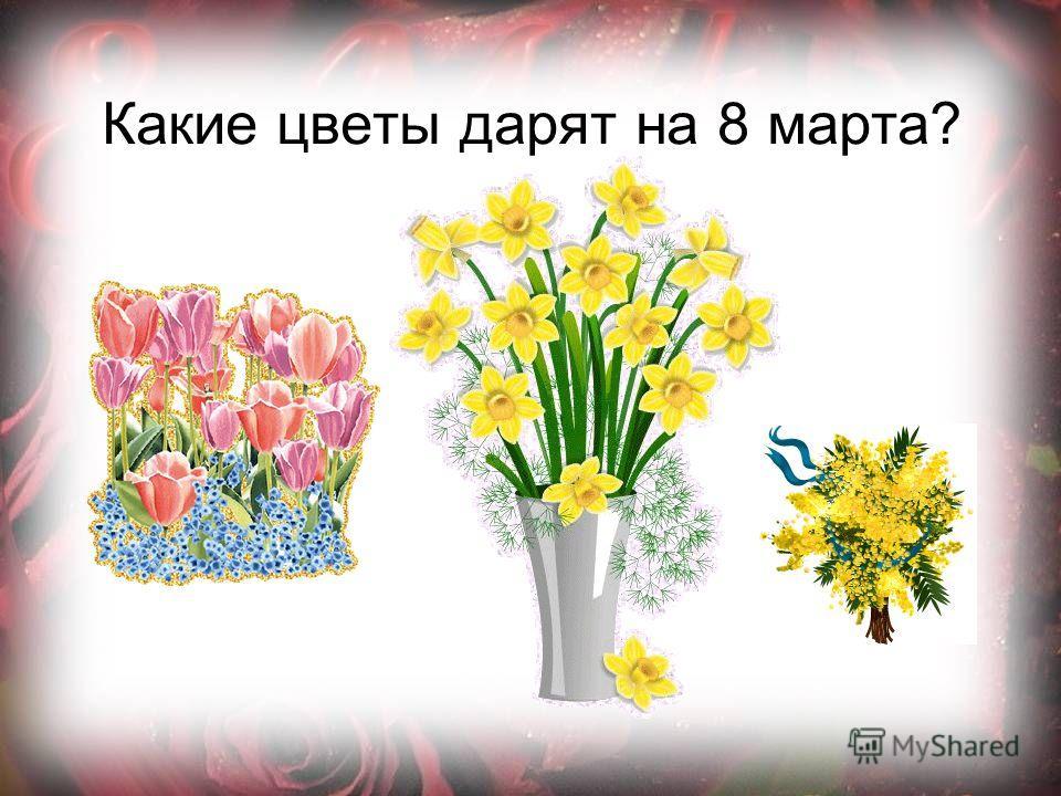 Какие цветы дарят на 8 марта?