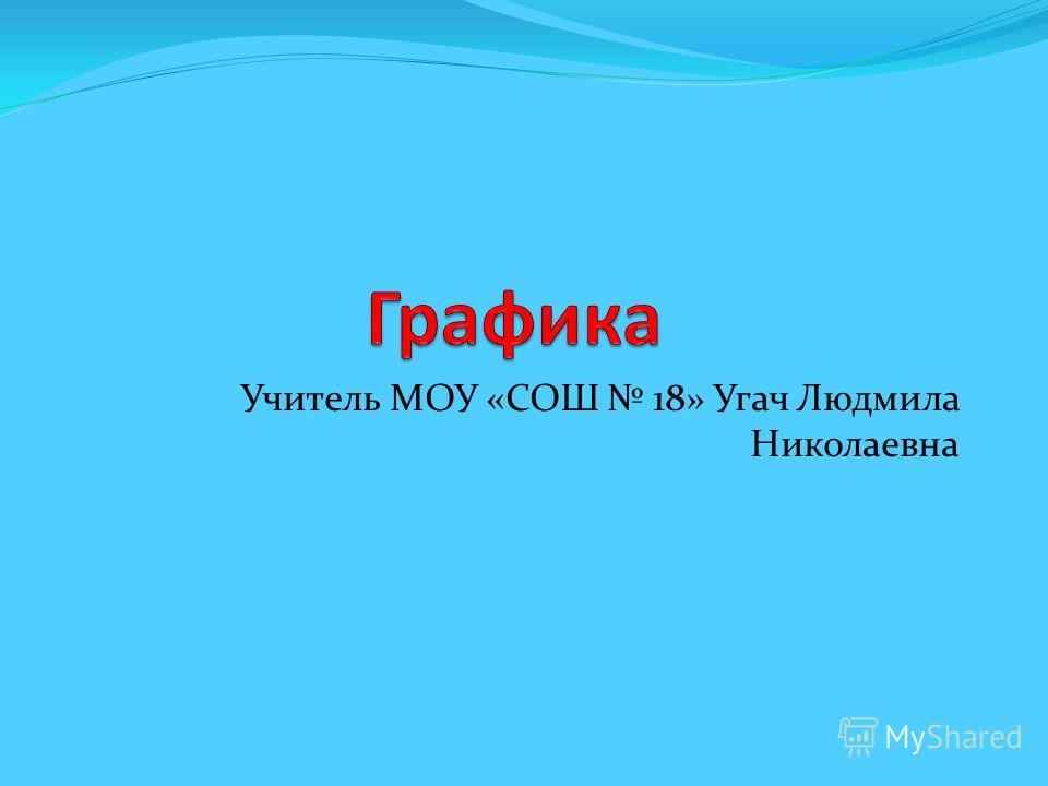 Учитель МОУ «СОШ 18» Угач Людмила Николаевна