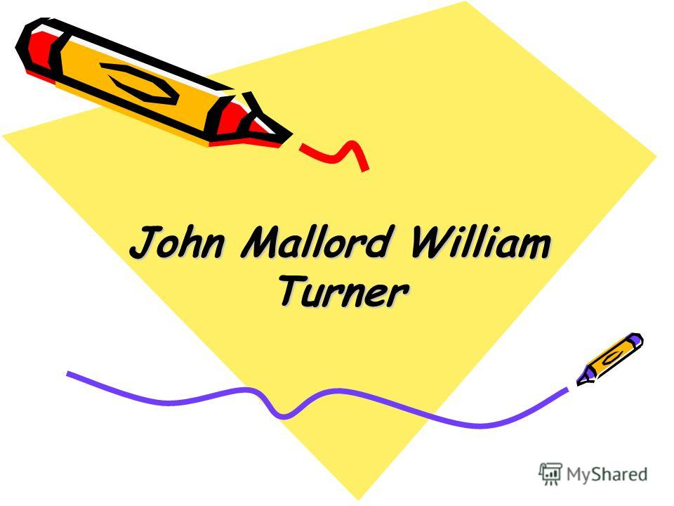 John Mallord William Turner