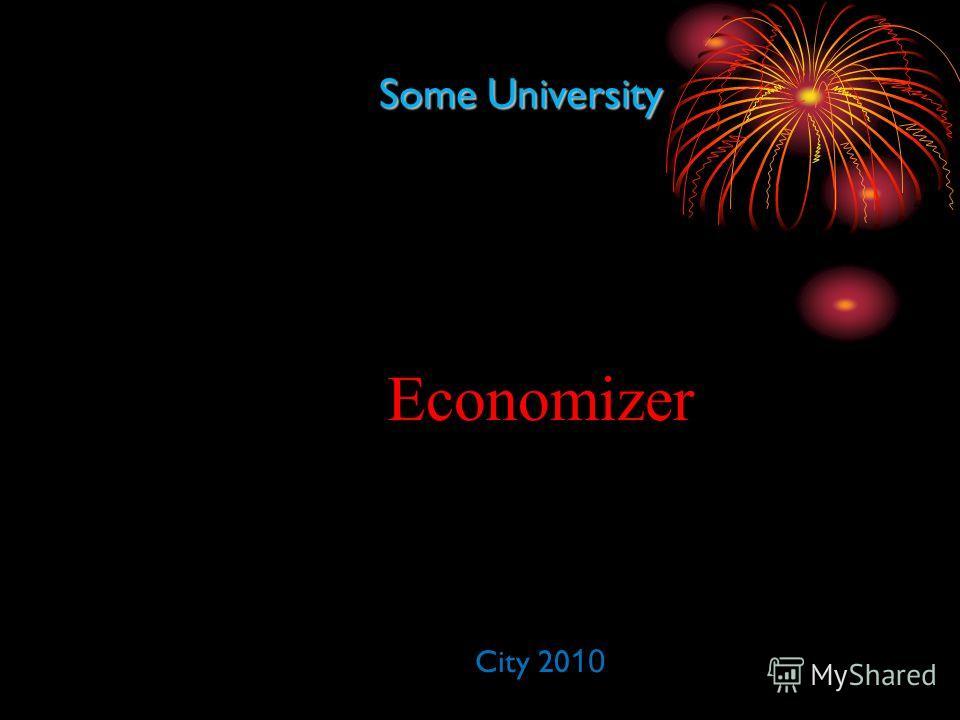 Some University Economizer City 20 10
