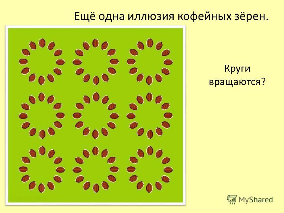 Ещё одна иллюзия кофейных зёрен. Круги вращаются?