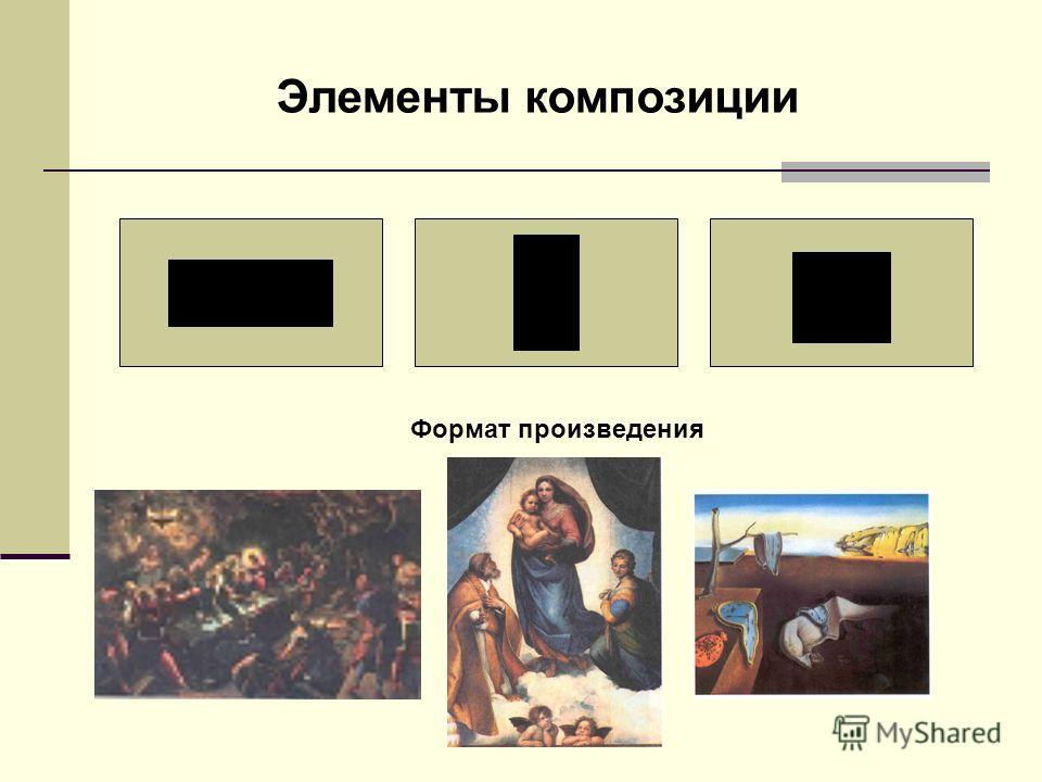 Элементы композиции Формат произведения