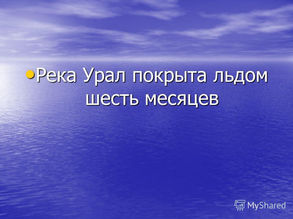 Река Урал покрыта льдом шесть месяцев Река Урал покрыта льдом шесть месяцев