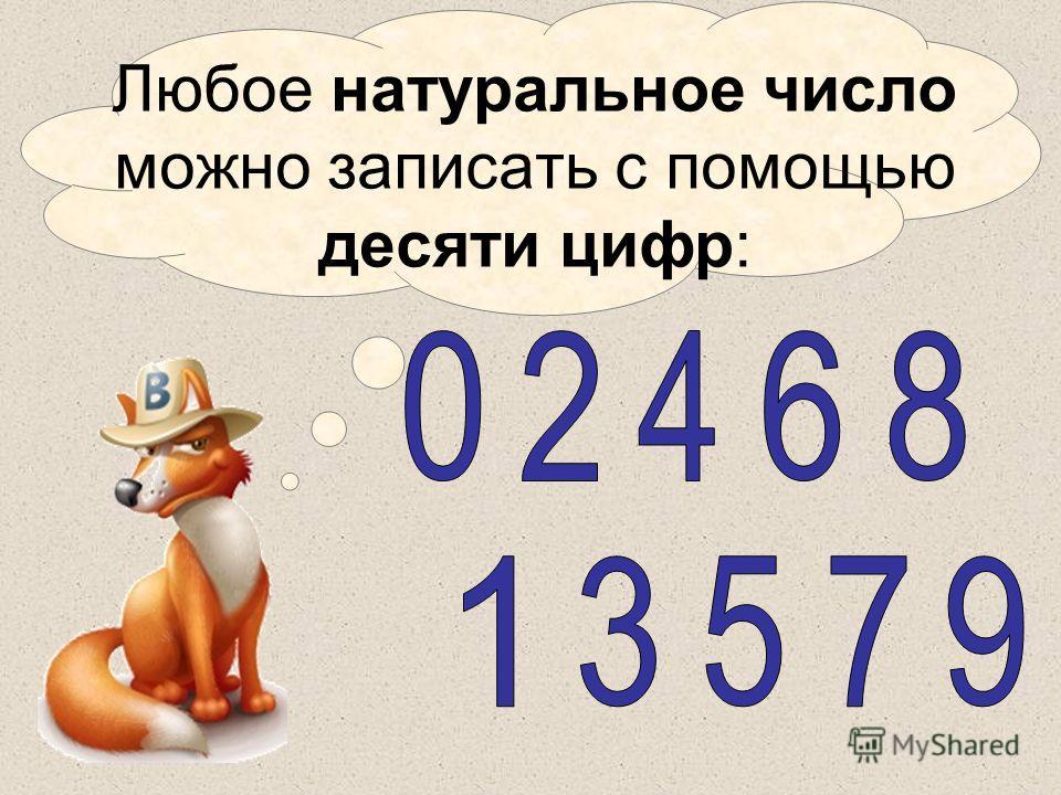 Литвиненко Т.А. Любое натуральное число можно записать с помощью десяти цифр: