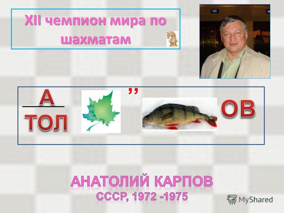 XII чемпион мира по шахматам,,