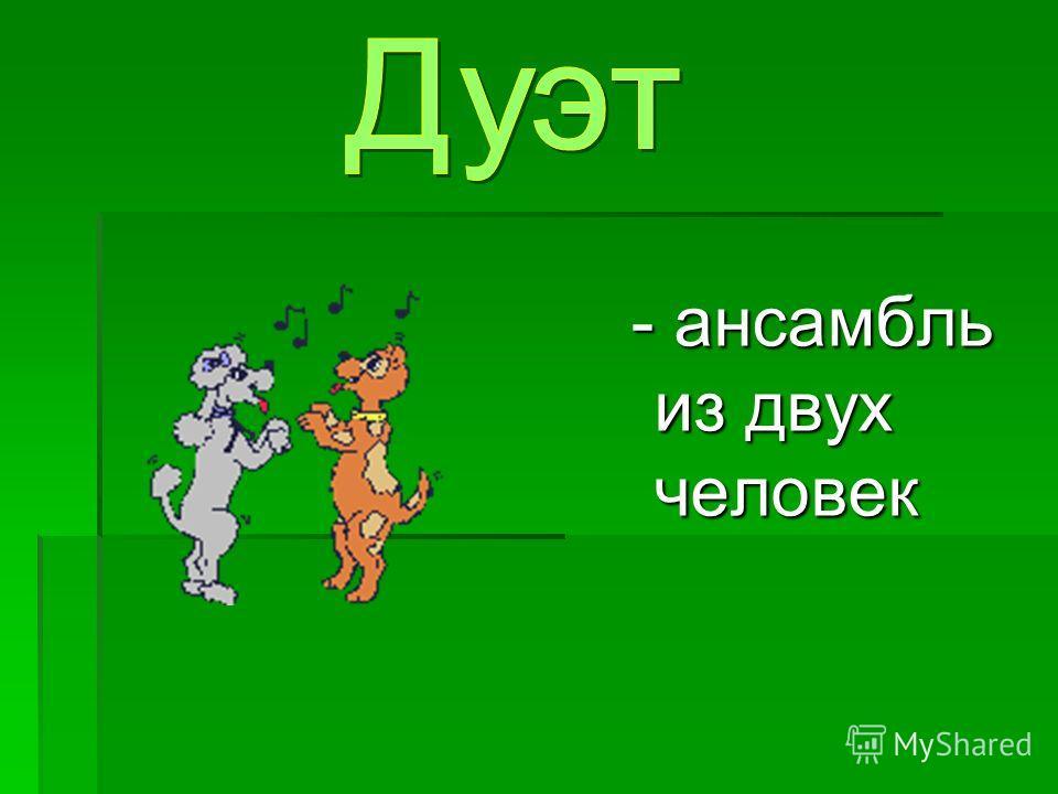 - ансамбль из двух человек - ансамбль из двух человек