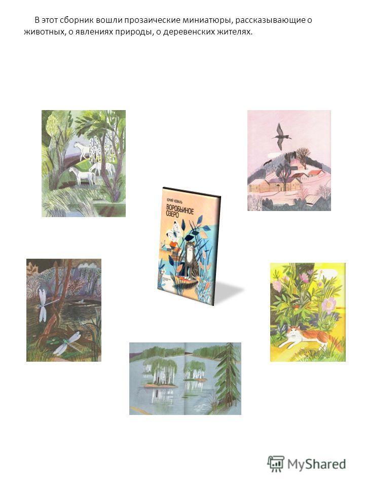 В этот сборник вошли прозаические миниатюры, рассказывающие о животных, о явлениях природы, о деревенских жителях.