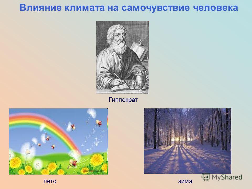 Влияние климата на самочувствие человека Гиппократ летозима