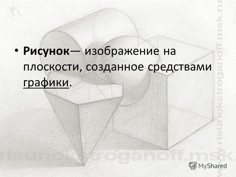 Рисунок изображение на плоскости, созданное средствами графики.