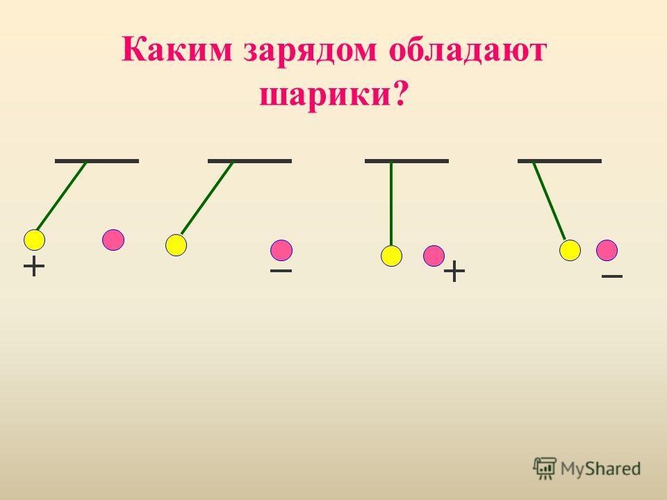 Каким зарядом обладают шарики?