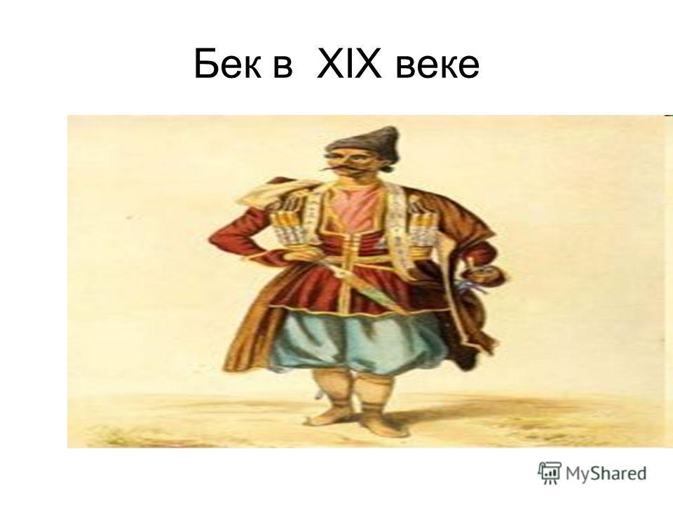 Бек в XIX веке