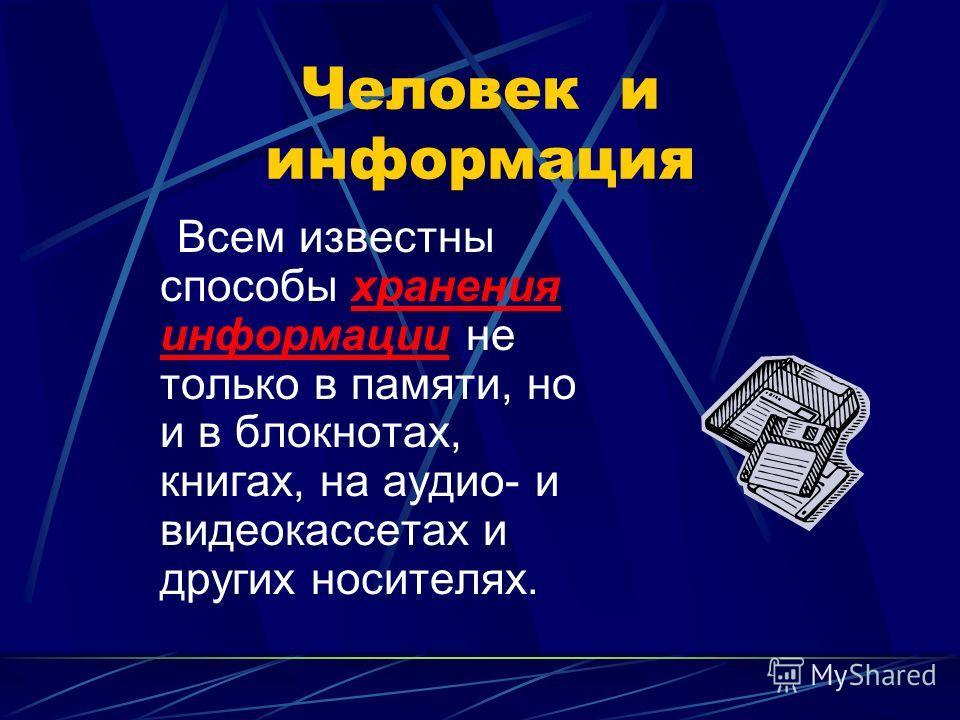 Человек и информация Он может передавать информацию голосом, жестами, в виде записи и рисунков.