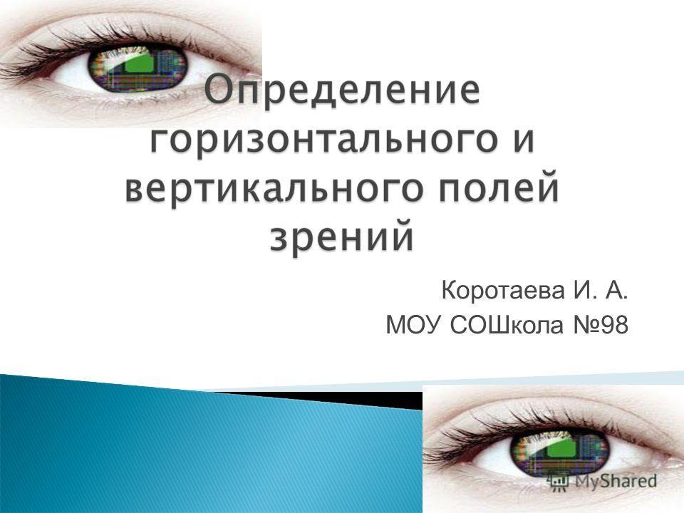 Коротаева И. А. МОУ СОШкола 98