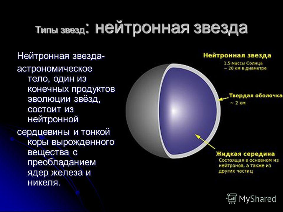 2. Типы звезд: Белый карлик Сравнительные размеры Солнце (справа) и двойной системы IK Пегаса компонент B белый карлик с температурой поверхности 35 500 K (по центру) и компонент А звезда спектрального типа A8 (слева) Белый карлик - вырожденная звезд
