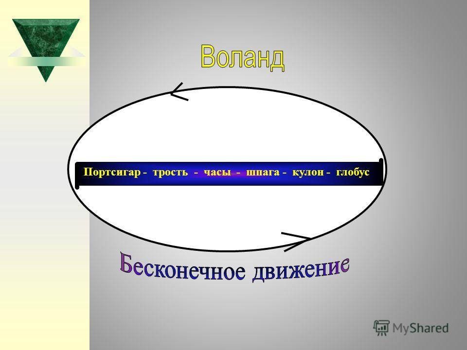 Портсигар - трость - часы - шпага - кулон - глобус