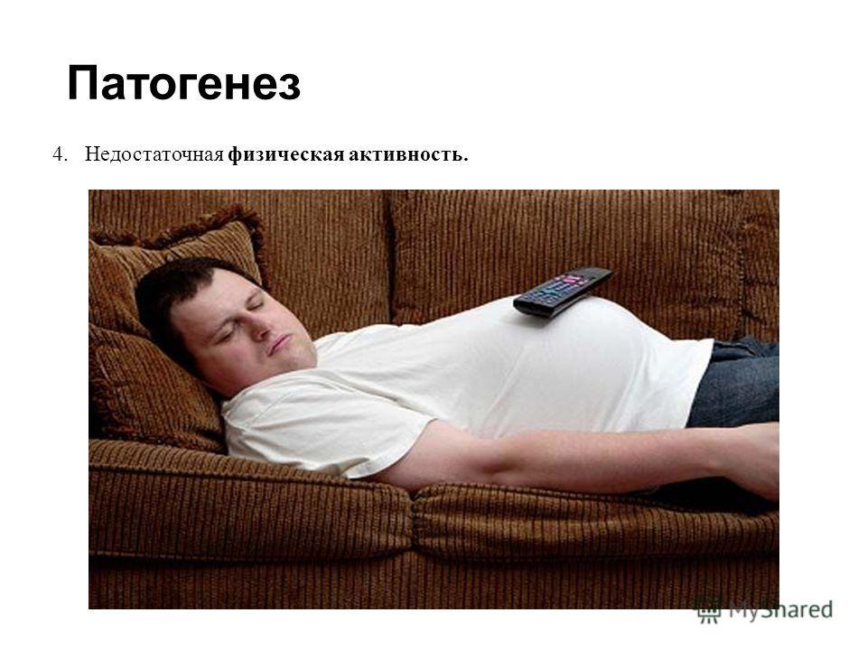 Патогенез 4.Недостаточная физическая активность.