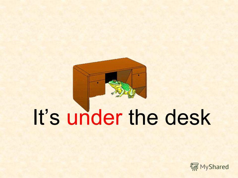 Its under the desk