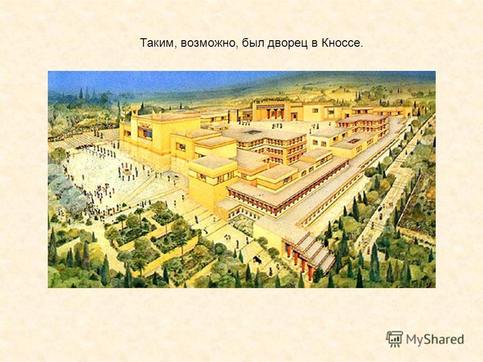 Таким, возможно, был дворец в Кноссе.