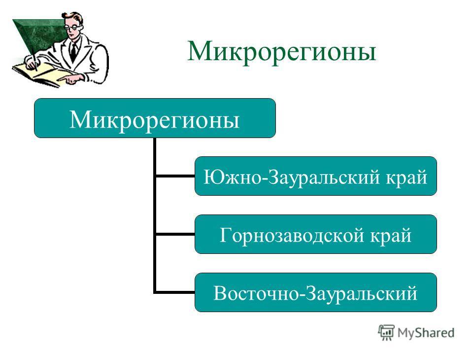 Южно- Зауральский край Горнозаводской край Восточно- Зауральский