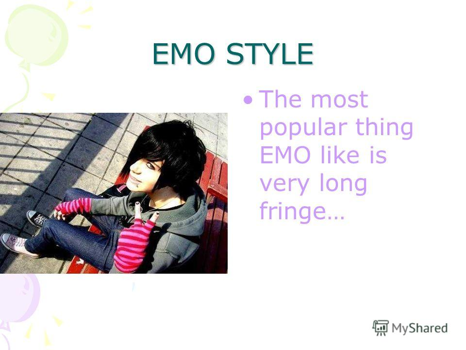 EMO STYLE Emo-teens prefer to make crazy things on their heads….)))))))) and, of course, bright make up…