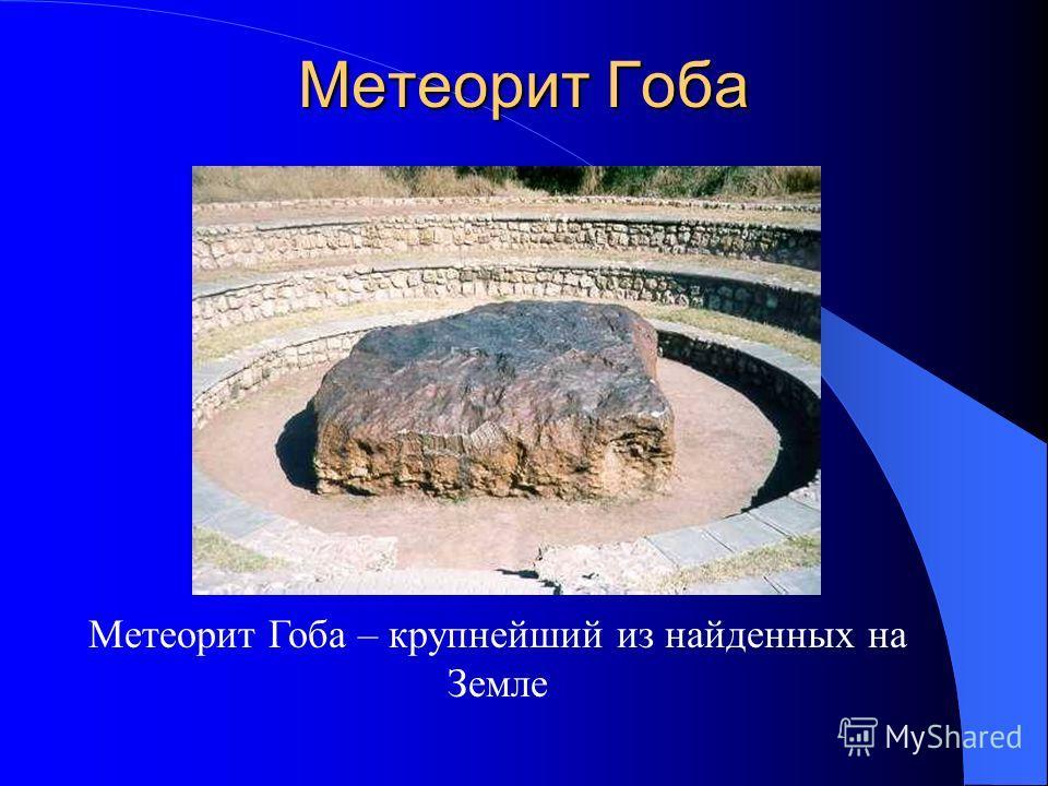 Метеорит Гоба Метеорит Гоба – крупнейший из найденных на Земле