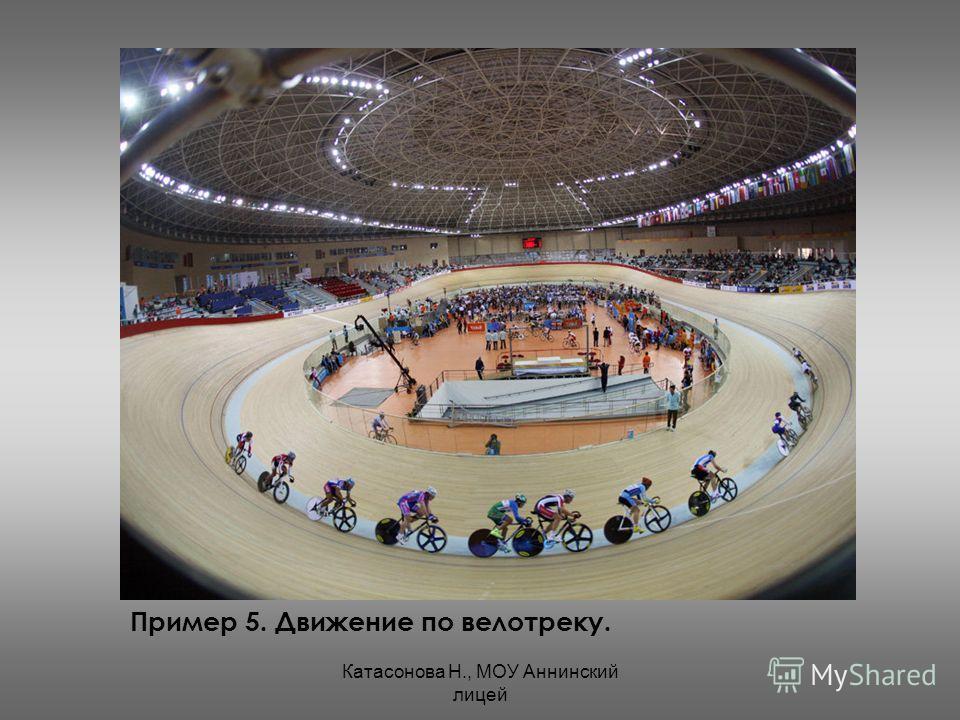 Катасонова Н., МОУ Аннинский лицей Пример 5. Движение по велотреку.
