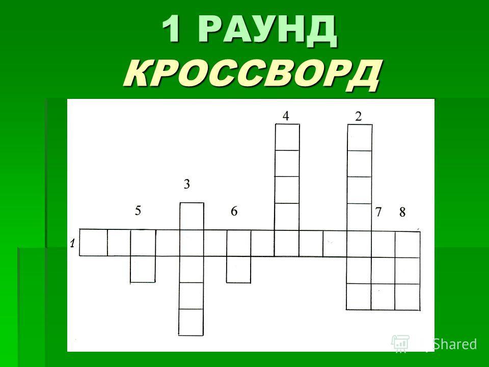 1 РАУНД КРОССВОРД