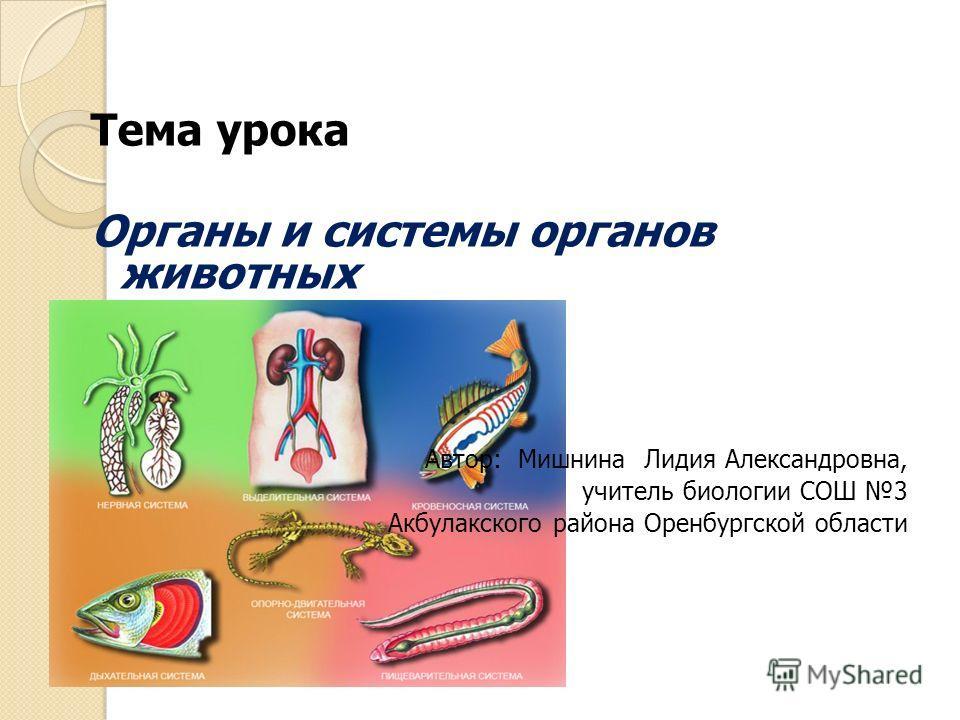 Н.и сонина биология 6 класс системы органов животных