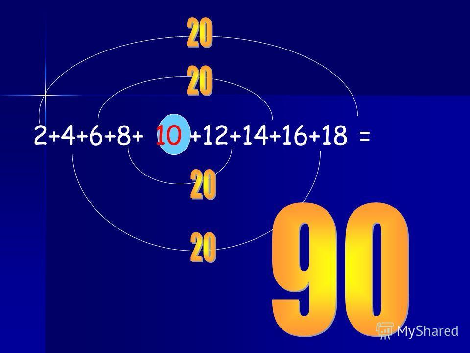 2+4+6+8+ 10 +12+14+16+18 =