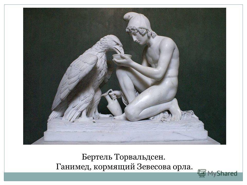 Бертель Торвальдсен. Ганимед, кормящий Зевесова орла.