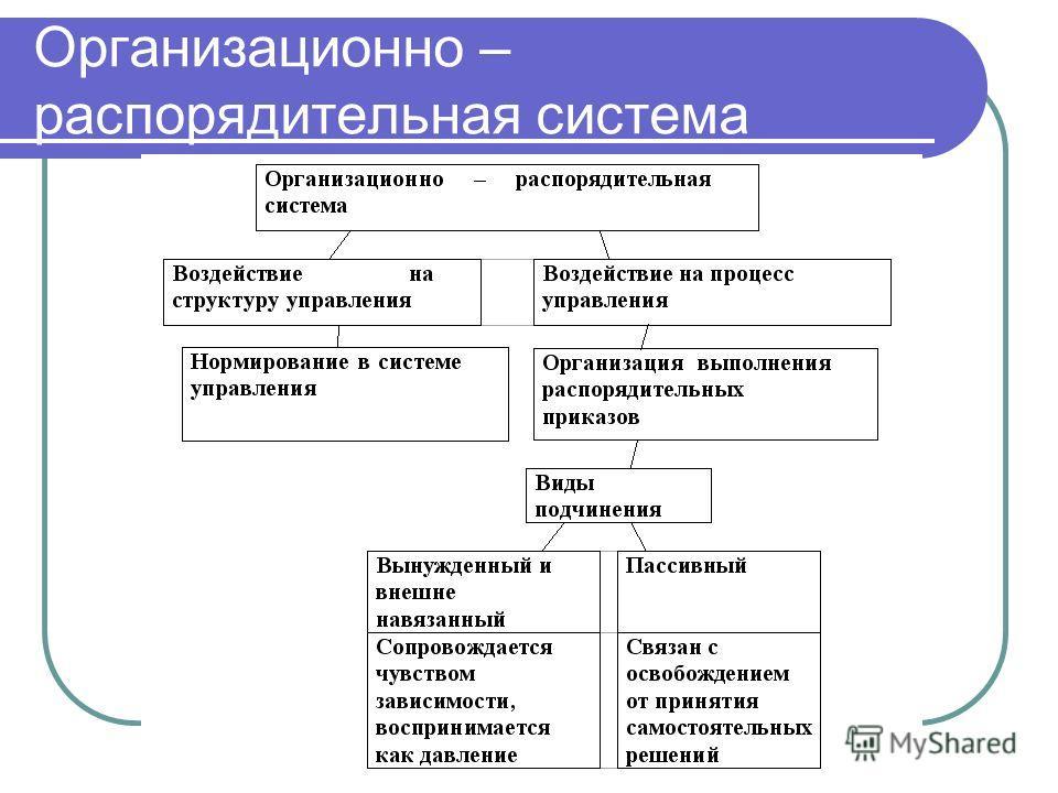 Организационно – распорядительная система