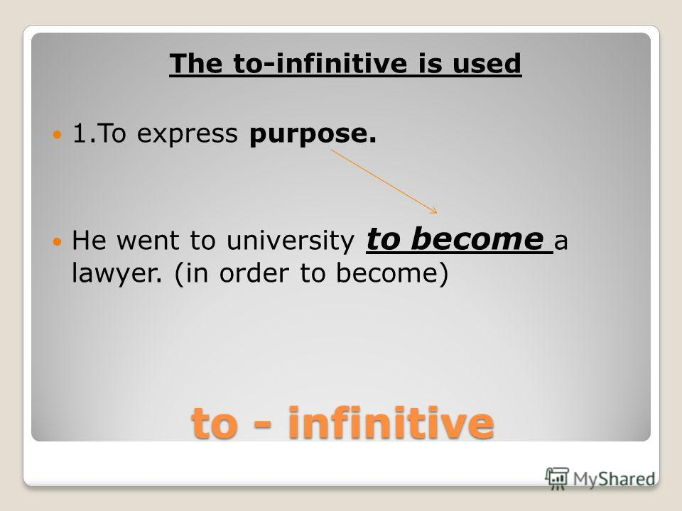 THE TO-INFINITIVE OR –ING FORM GRAMMAR REFERENCES Balabanova Olga, school N 6, Apatity