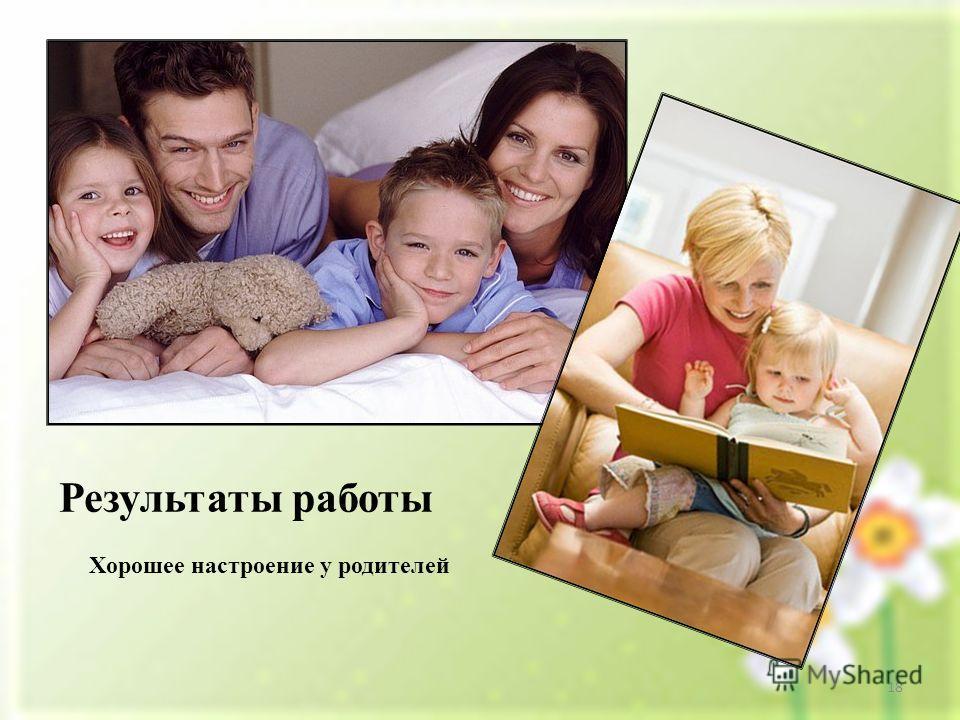 Результаты работы Хорошее настроение у родителей 18