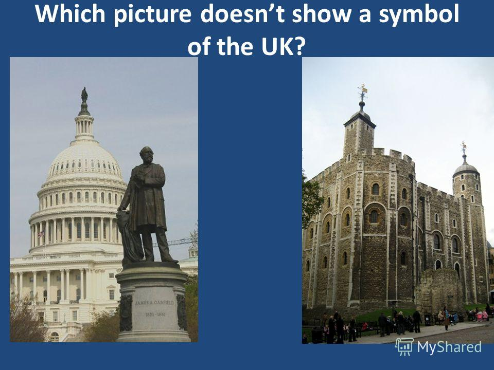 Which picture doesnt show a symbol of the UK?