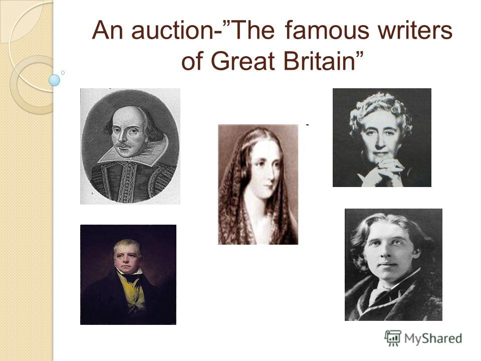 An auction-The famous writers of Great Britain