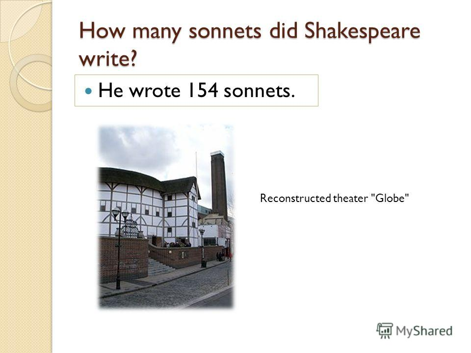 when managed shakespeare craft his particular sonnets