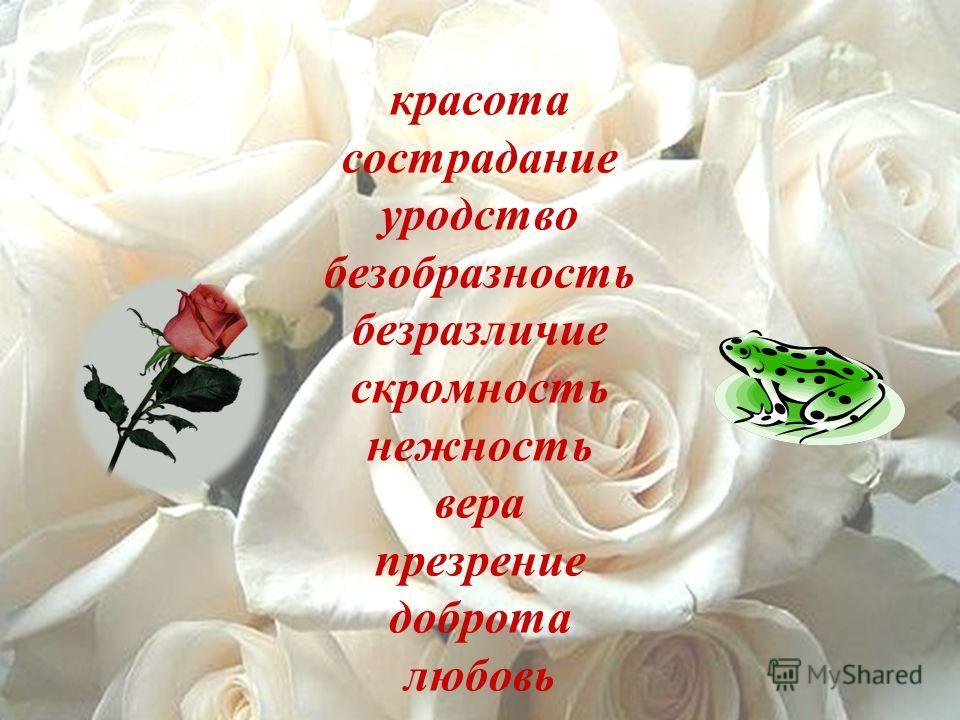 красота красота сострадание уродство безобразность безразличие скромность нежность вера презрение доброта любовь
