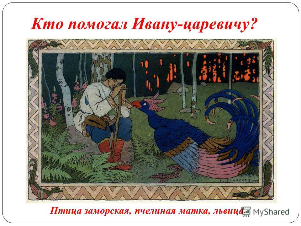 Кто помогал Ивану-царевичу? Птица заморская, пчелиная матка, львица