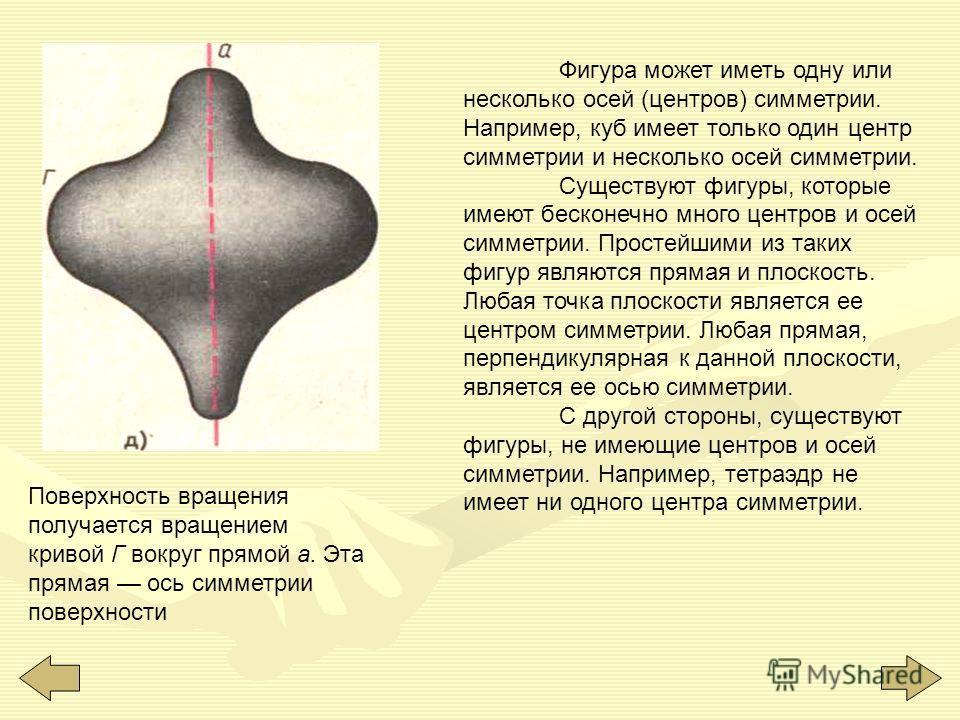 Прямая, проходящая через середины противоположных ребер АВ и CD правильного тетраэдра, ось симметрии тетраэдра. У правильного тетраэдра три оси симметрии Тор это поверхность, полученная вращением окружности вокруг прямой а (ось тора). Прямая а ось си